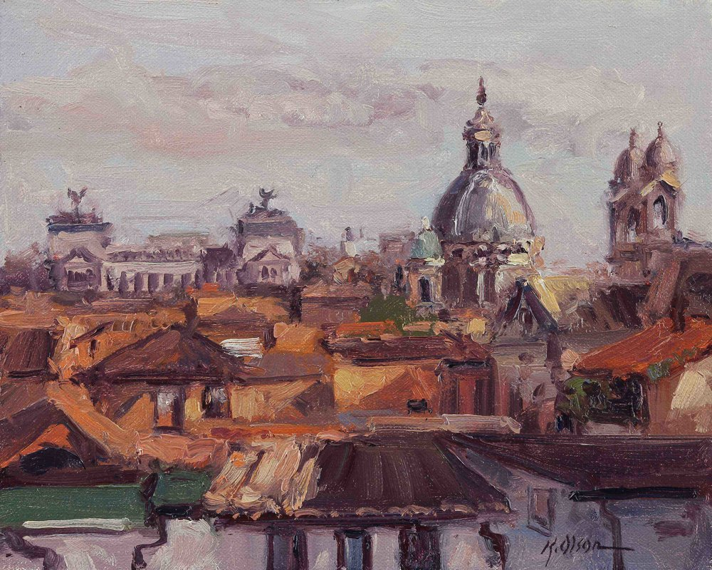 Rome From The Rooftop Garden