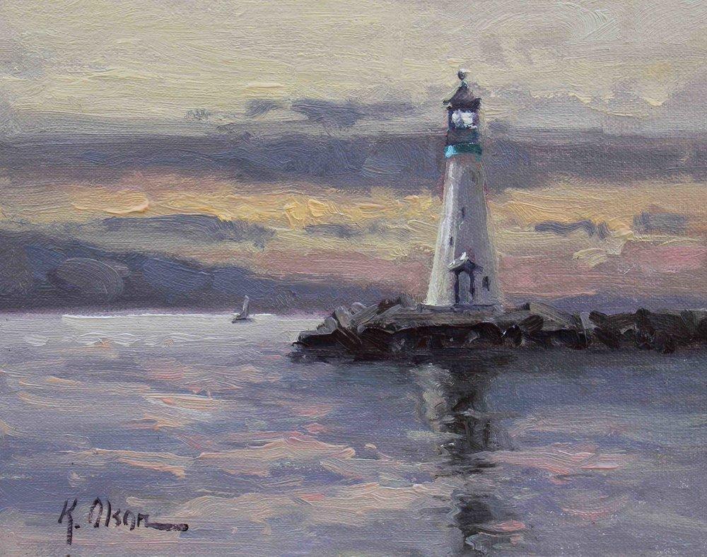 The Lighthouse At Santa Cruz Harbor