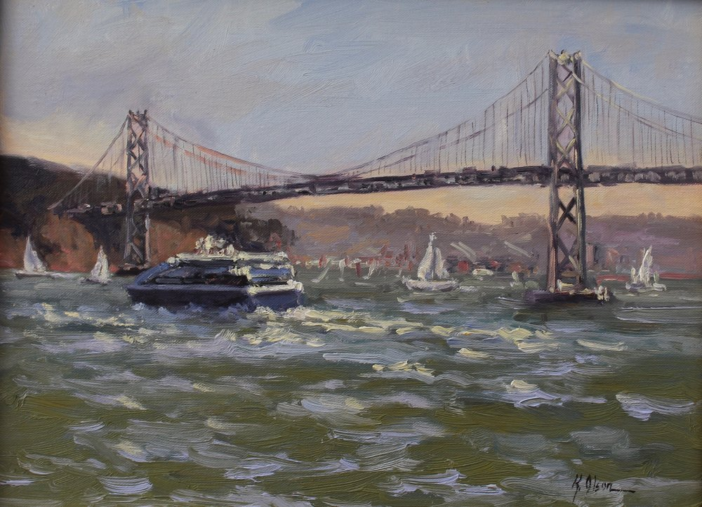 The Bay Bridge From The Ferry Building, San Francisco