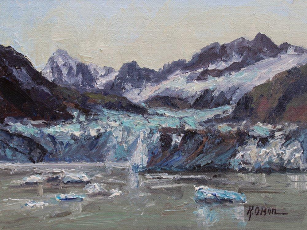 Calving At Marjorie Glacier