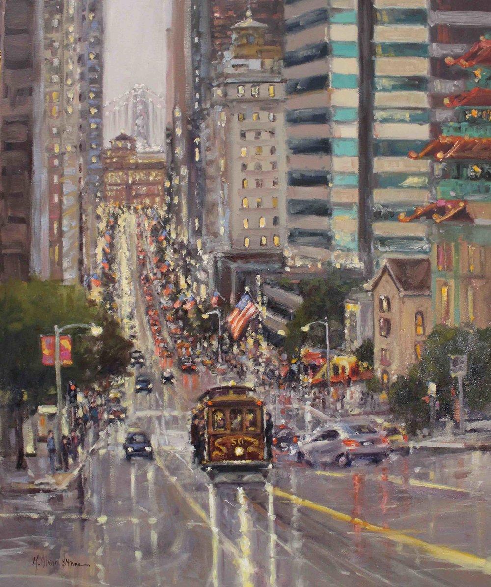 City Lights, California Street, San Francisco