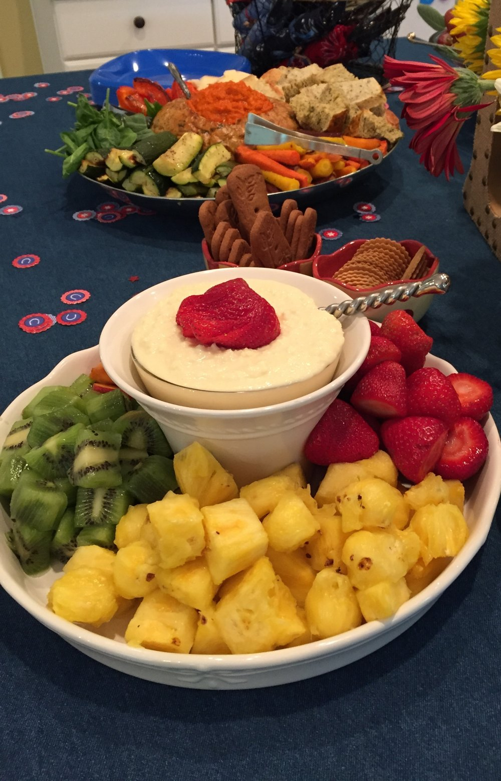 White Chocolate Marscapone Dip with Fresh Fruit