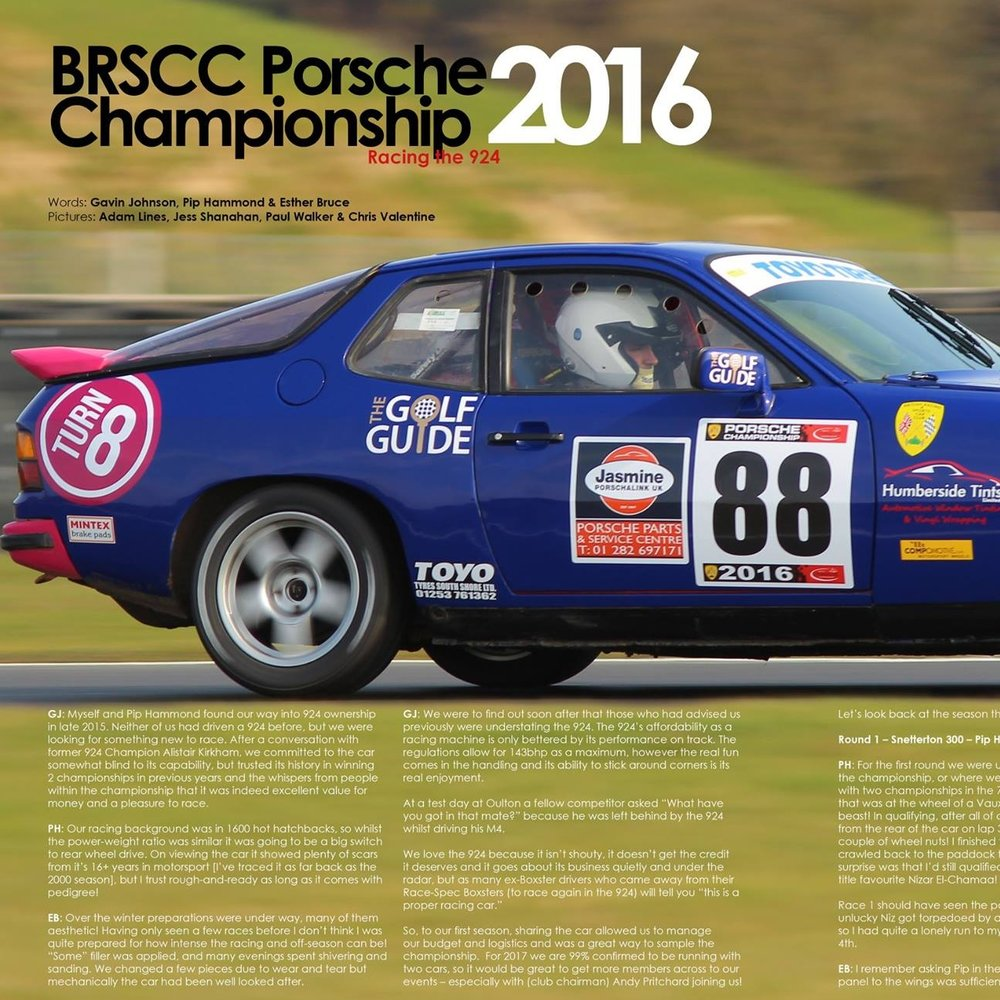 January 2017   -  Porsche owners club magazine, session review