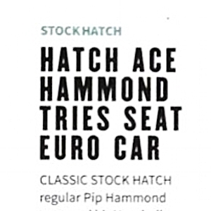 November 3, 2016 -  Pip appearing in Autosport magazine
