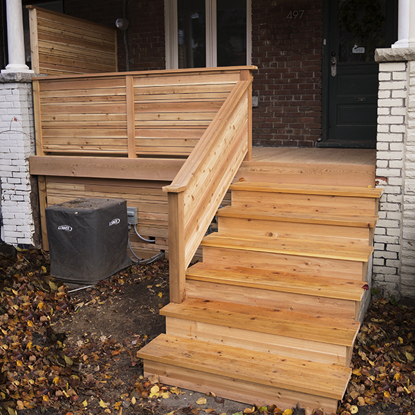 Modern Horizontal Railing Porch