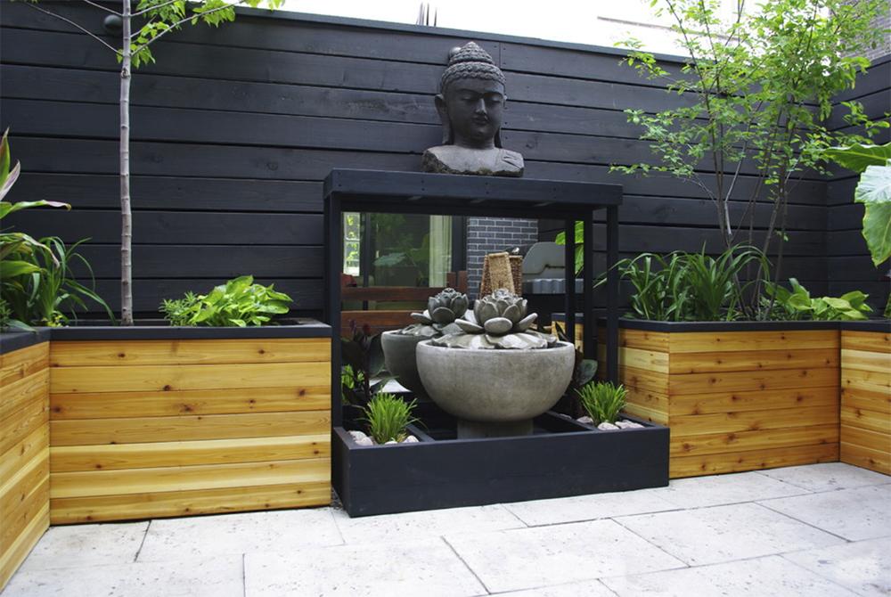 Balinese inspired garden
