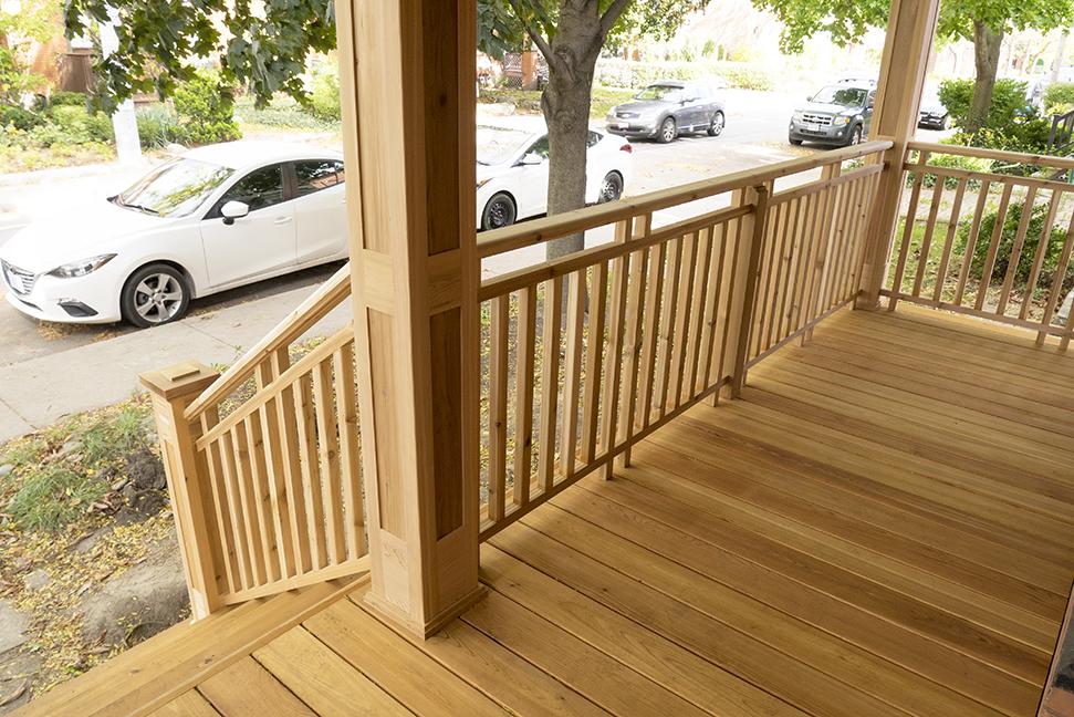 Craftsman style porch