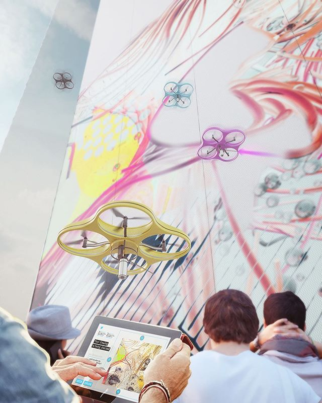 App-controlled drone paints crowdsourced murals by @crassociati