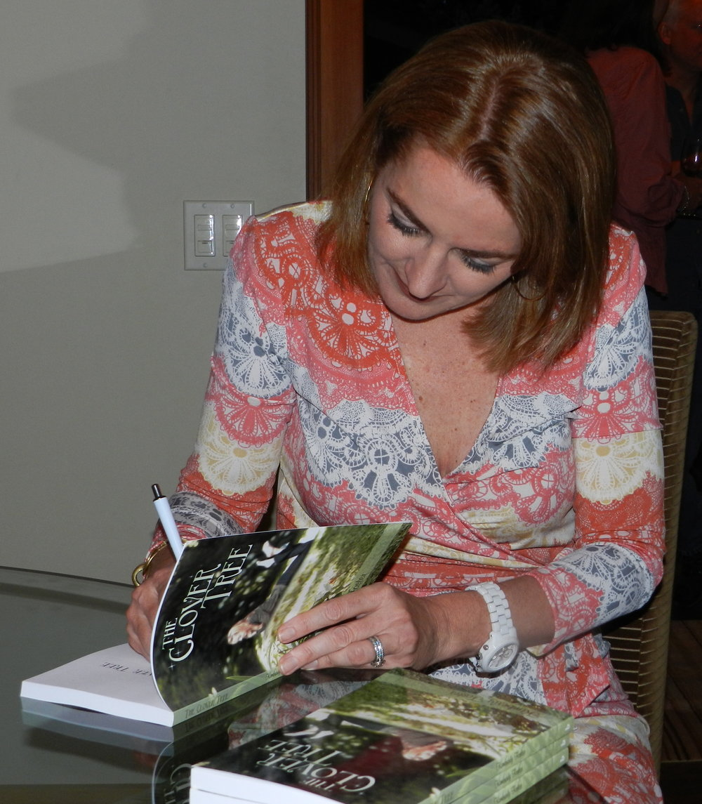 Foster at a book signing in Bellevue, WA.