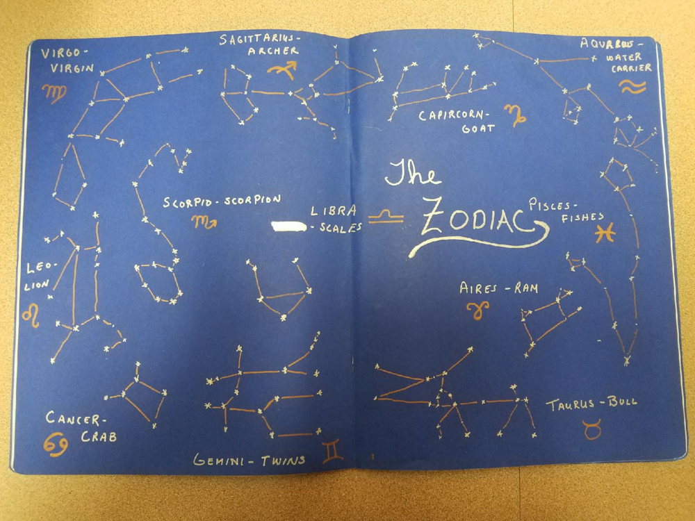 Laura Elmore artistic drawings of constellations