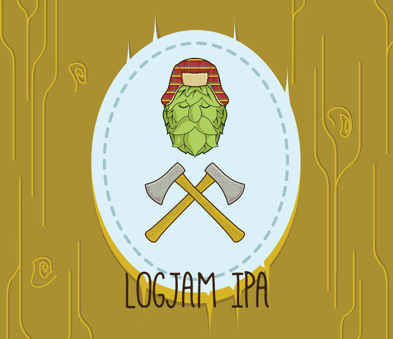 Another fictional IPA label made using Adobe Illustrator CC