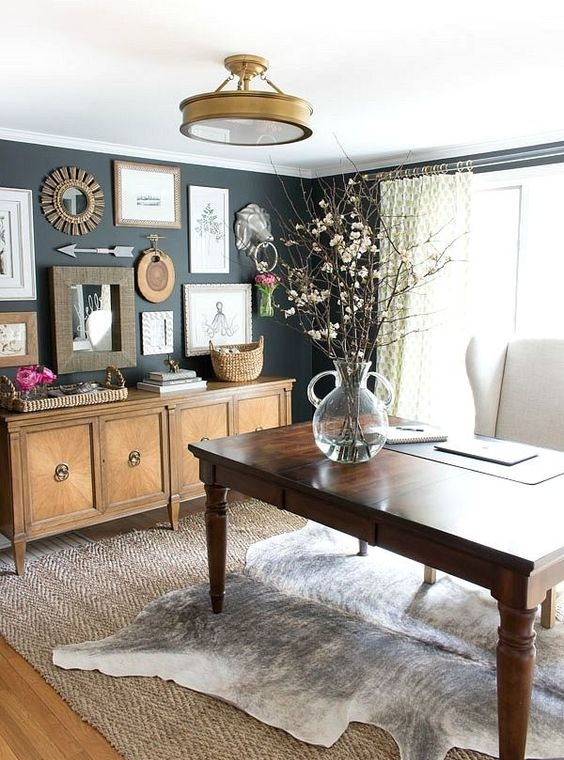 Home Office solutions: Bring Elements of Nature inside when you can't get outside. Natural and organic elements make you feel calm and give any room a welcoming feeling.