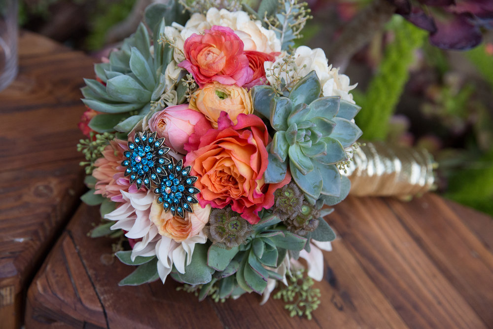 Glitzy, Quirky Cali Wedding