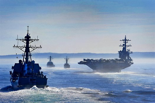 USS Stockdale, USS Gary, USS Carl Vinson and USS Gridley perform straits transiting exercise in the Pacific Ocean, Dec. 12, 2010.jpg