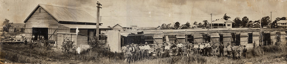 The timber mill in Sherwood, photograph courtesy of John and Hazel Lahey.