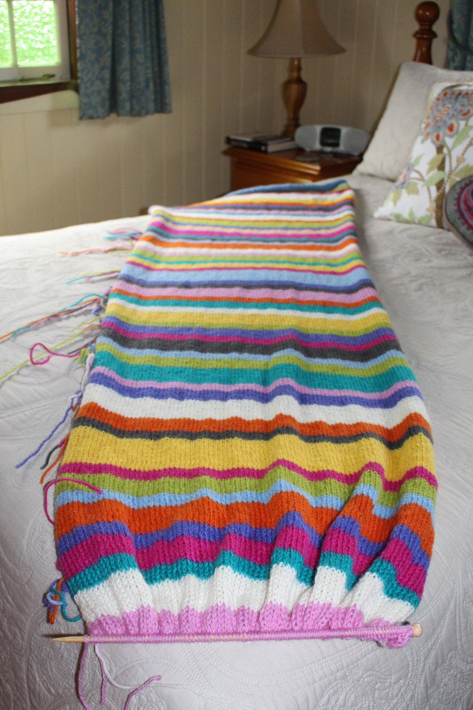Keep knitting ... and knitting