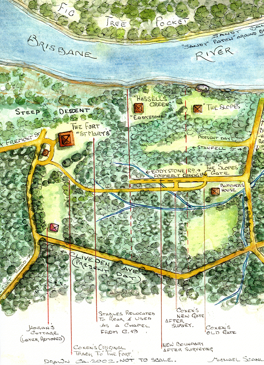 Map of The Fort by Michael Scanlan and used with his permission.