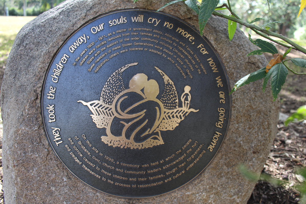 The 'Journey Home' plaque.