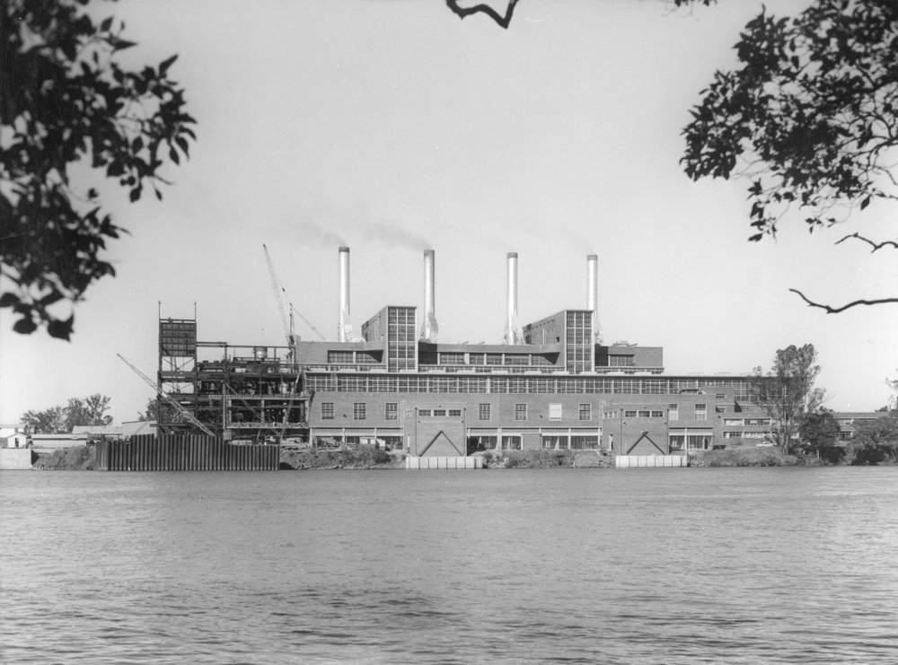 Tennyson Power Station, Brisbane, 1961, photo courtesy of the John Oxley Library, negative number 201308
