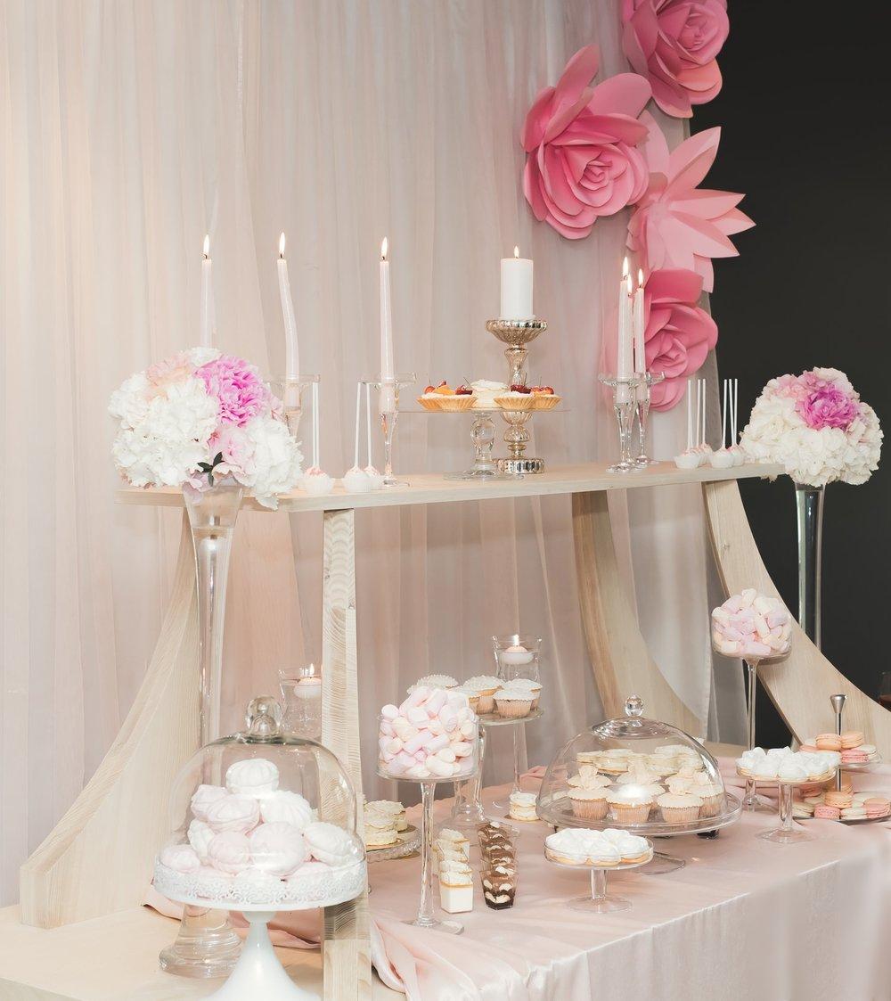dessert bar pink flowers cocktails.jpg