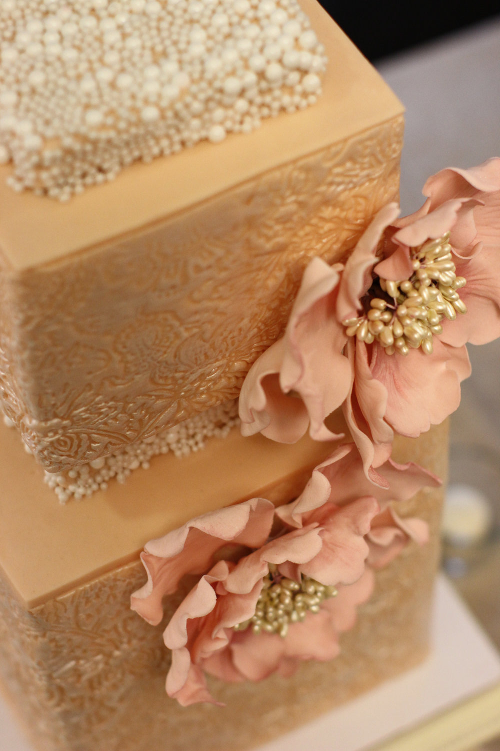 Pink Wedding Cake Events Beyond Event Planning