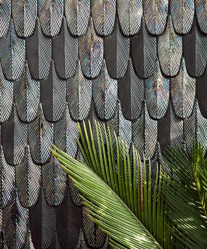 Botteganove Plumage tiles designed by Cristina Celestino.