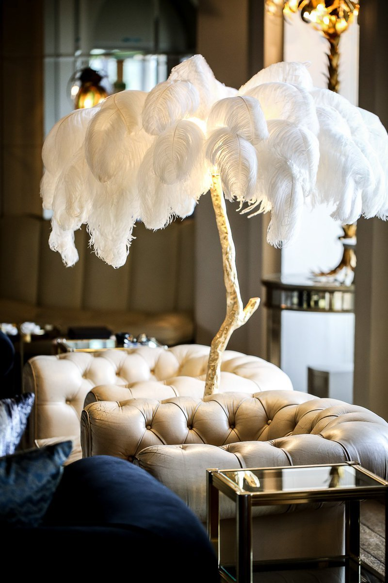 The Ostrich Feather Lamp by A Modern Grand Tour.