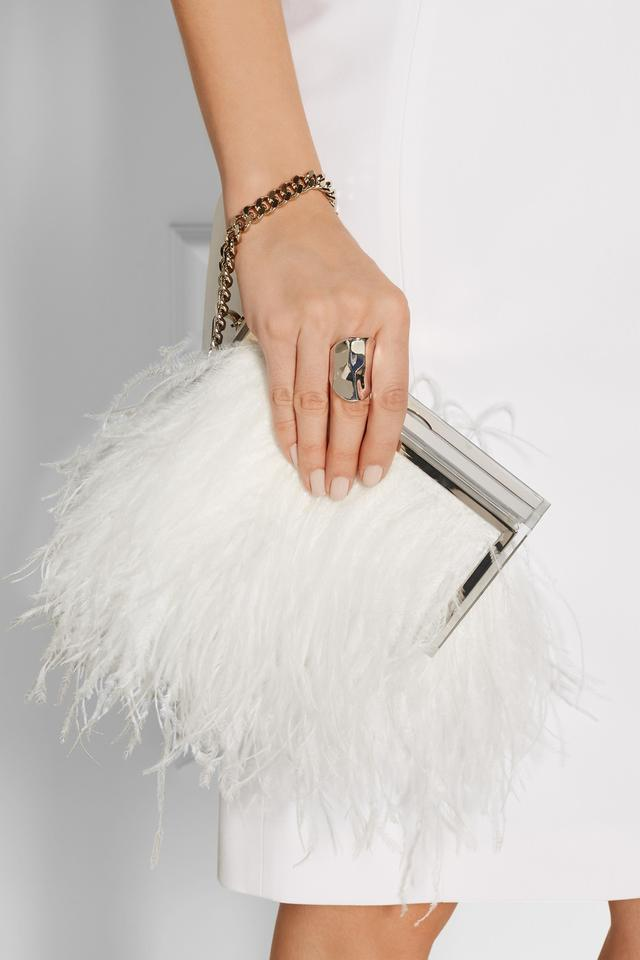 Jimmy Choo Boxed Feather Clutch