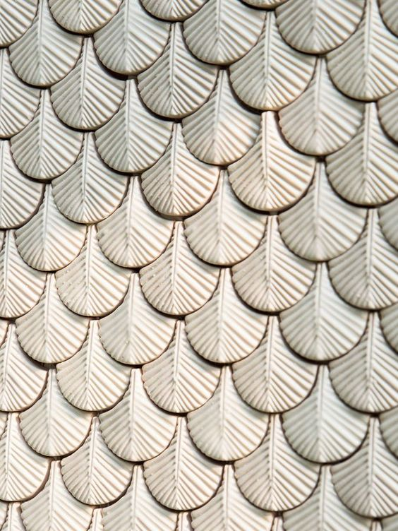 Botteganove plumage tile designed by Cristina Celestino