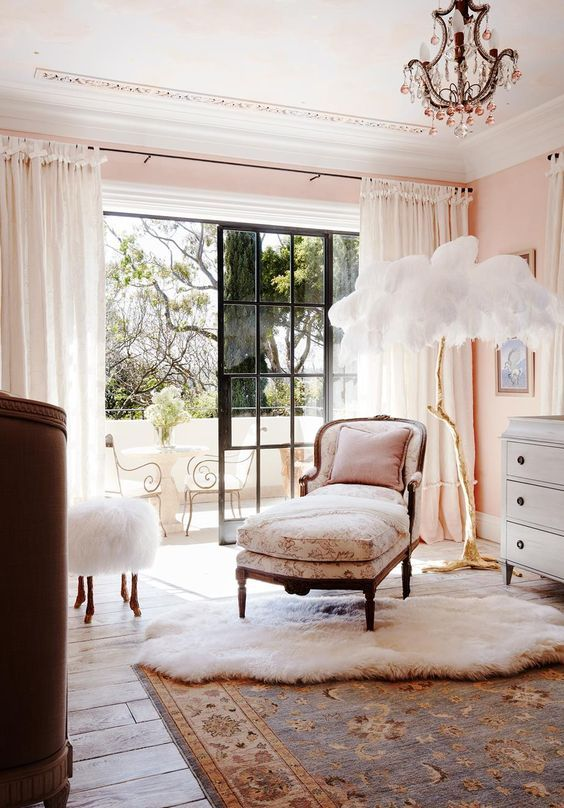 The Ostrich Feather Lamp by A Modern Grand Tour - Interior Design by Dylan Farrell Design