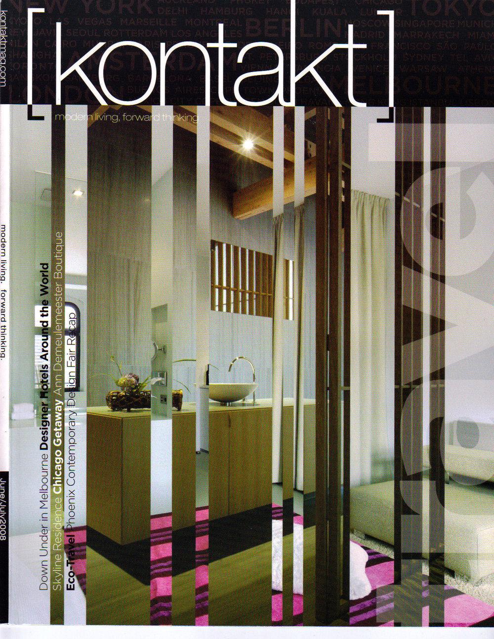 June-July 2008 - Kontakt Magazine (Cover).jpg