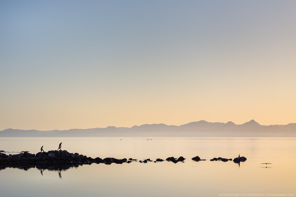 Fishermen on the rocks, Sunrise, Gulf of California.jpg