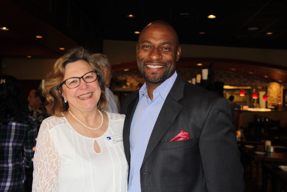 Shelley sponsored the Cobb Northeast Business Association's Alive After Five April 27 at Vespucci's on Canton Road. (pictured with Nathan Wade)