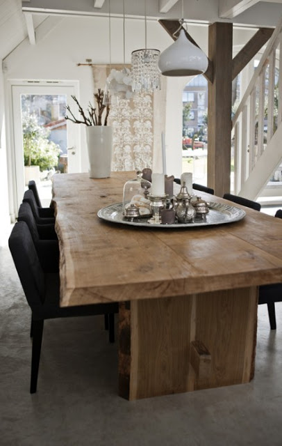 live edge dining table large light wood