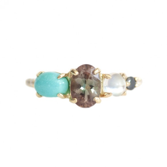 sunstone_moonstone_and_turquoise_stone_cluster_ring_front