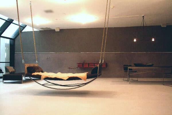 Leather+Link+Hammock+&+furniture+by+Jim+Zivic