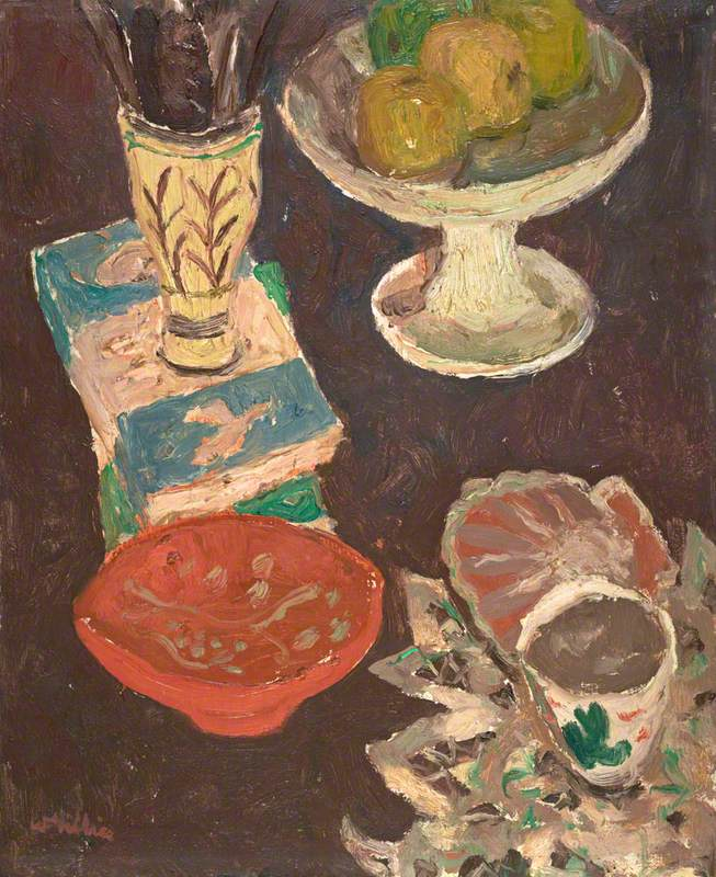 Gillies, William George, 1898-1973; Still Life with Penguin Books