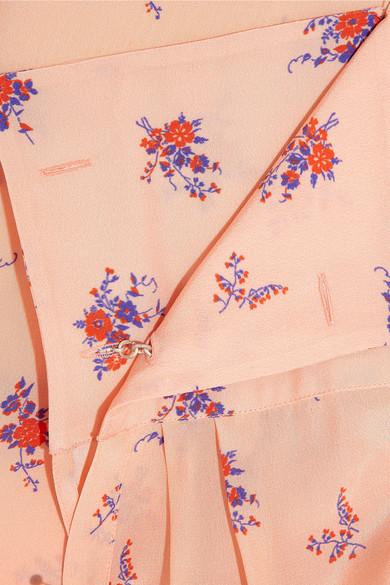 printed silk crepe