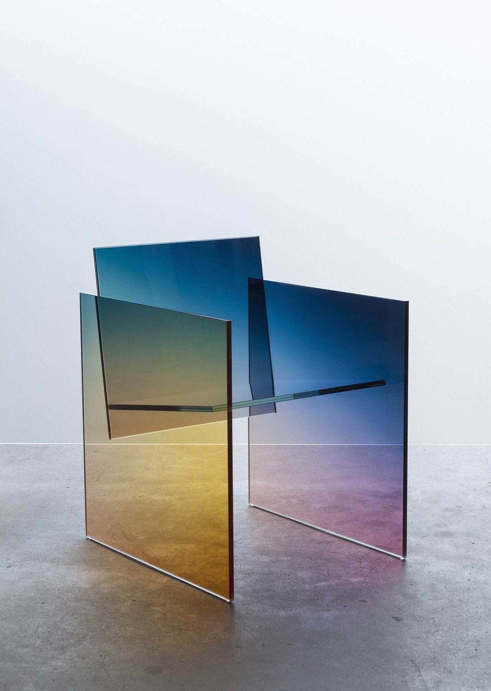 germans ermics ombre glass chair