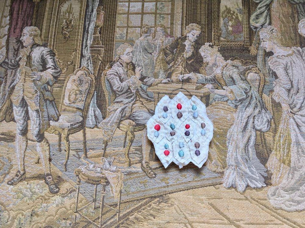 textile wall hanging no. 2 dot by dot