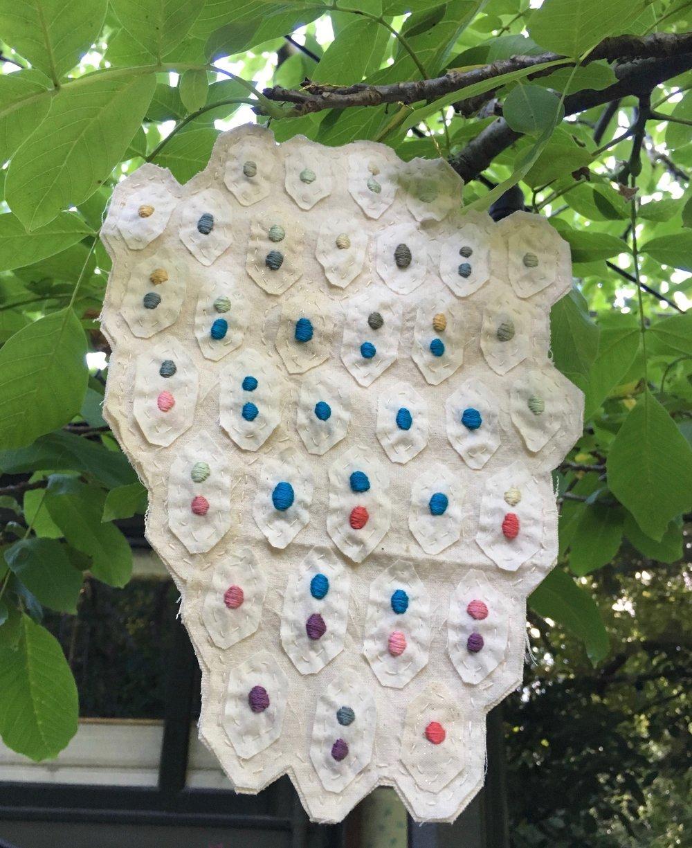 textile art wall hanging no. 3