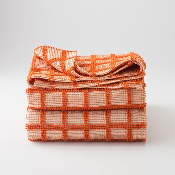 schoolhouse orange coverlet