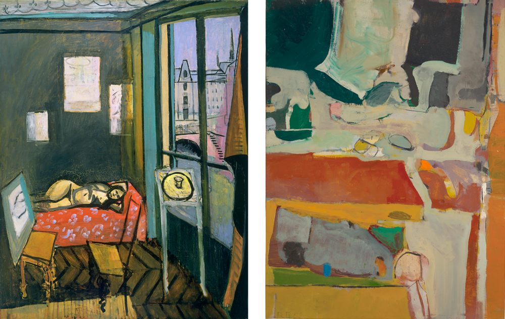 Left: Henri Matisse  Studio, Quai Saint-Michele , 1916. Right: Richard Diebenkorn  Urbana #4,  1953