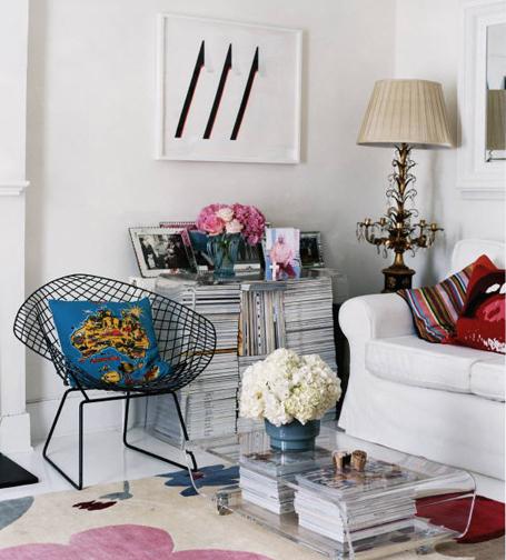 magazines in piles