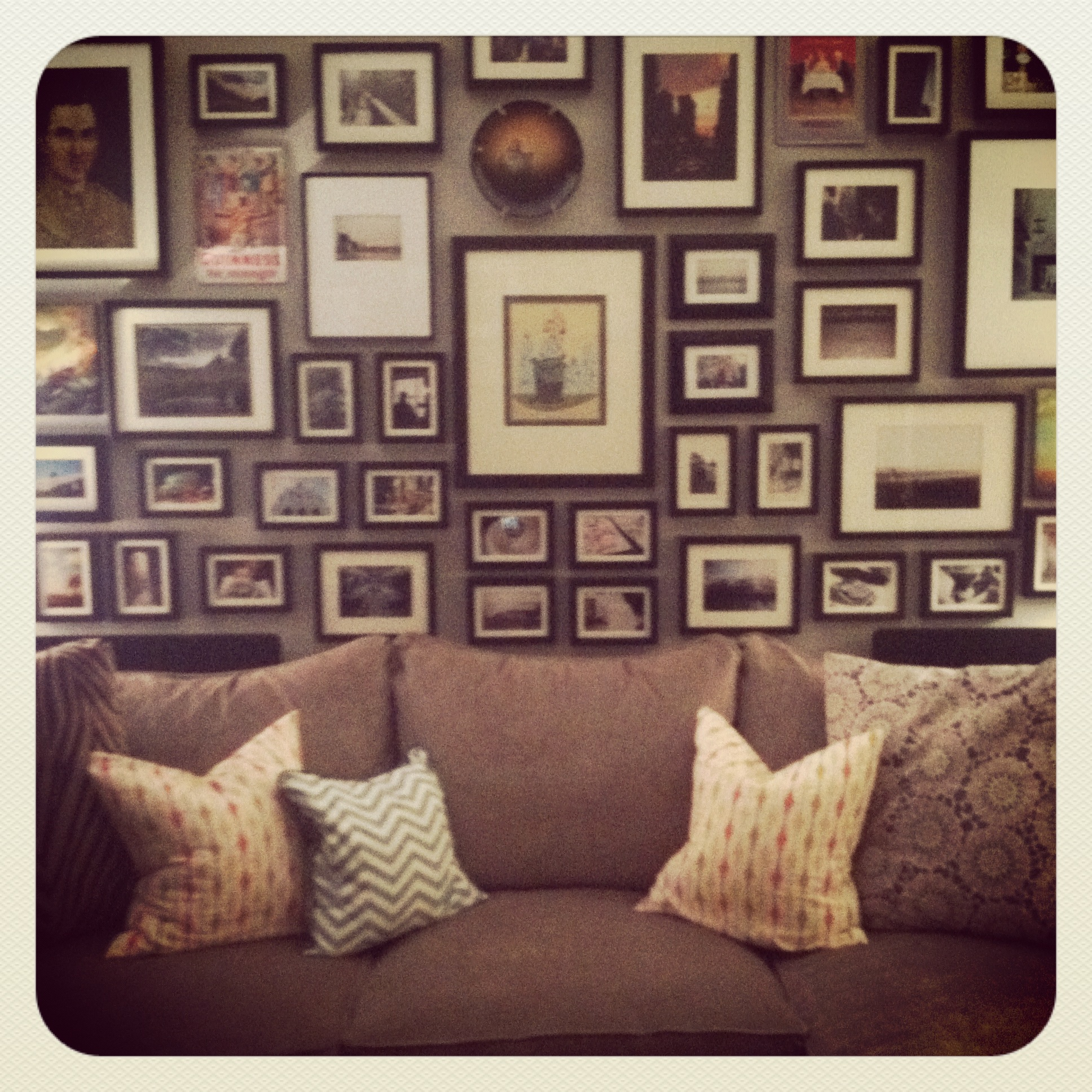 gallery wall process how to before and after makeover apartment envy living room instagram