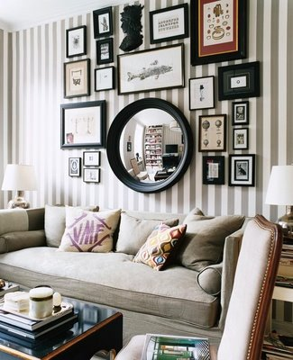 gallery wall inspiration frames art wall photography mirror