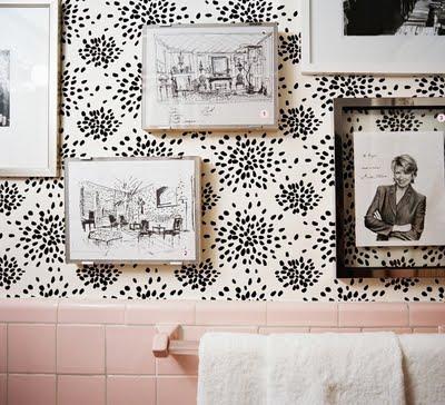 pink bathroom tile interior design decorating ideas