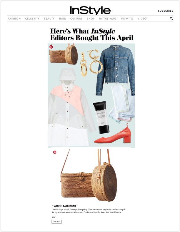InStyle , May 2, 2017  Here's What InStyle Editors Bought This April