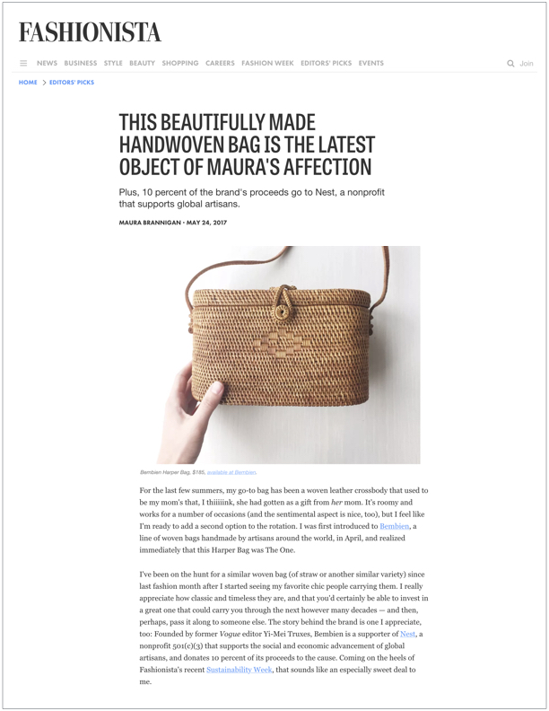 Fashionista , May 24, 2017  The Latest Object of Maura's Affection