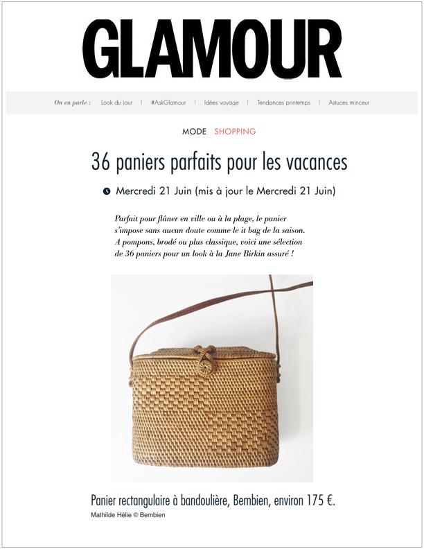 Glamour , June 21, 2017  36 paniers parfaits pour les vacances